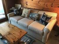 Comfortable seating for all. Sleep/Sofa brand new for 2017.