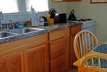 New kitchen counters and cabinets