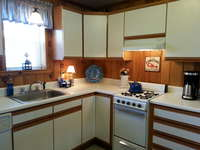 The kitchen includes everything you need for dinner after a long day at one of the beautiful beaches located nearby. A dishwasher, lobster pot, thermal coffee pot and ice maker are all included.