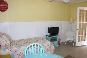 There is 1-twin bed in the 1st bedroom.