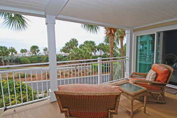 Relax in the new patio furniture and enjoy the ocean view.