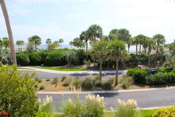 Across the street is the Sunset Terrace - site of many oceanfront weddings.