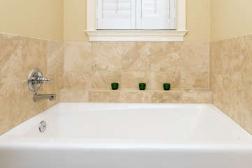 An over-sized tub is available also.