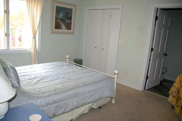 The 2nd bedroom has a queen bed and adjoining bathroom.
