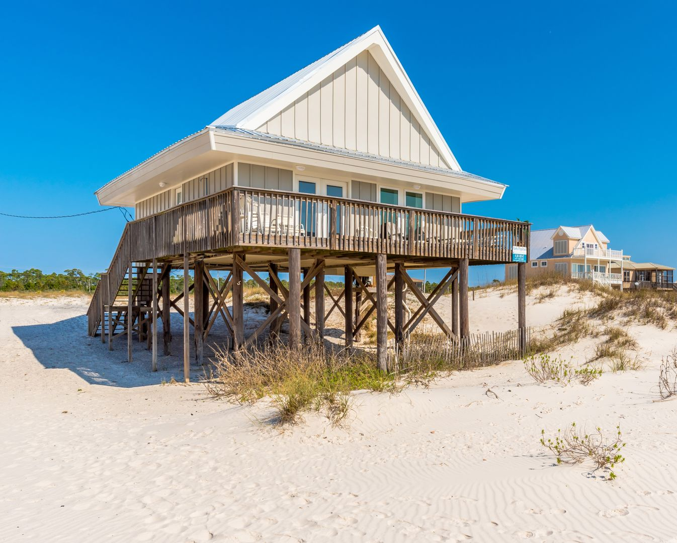 Wall Street Beach Front House Rental in Fort Morgan