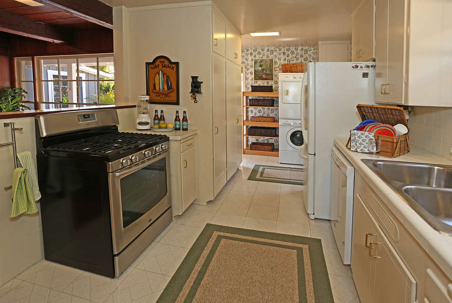 Galley Kitchen and Laundry