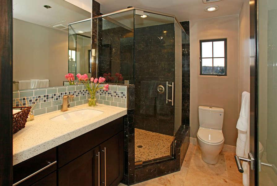 Bathroom #2 w/walk-in marble shower