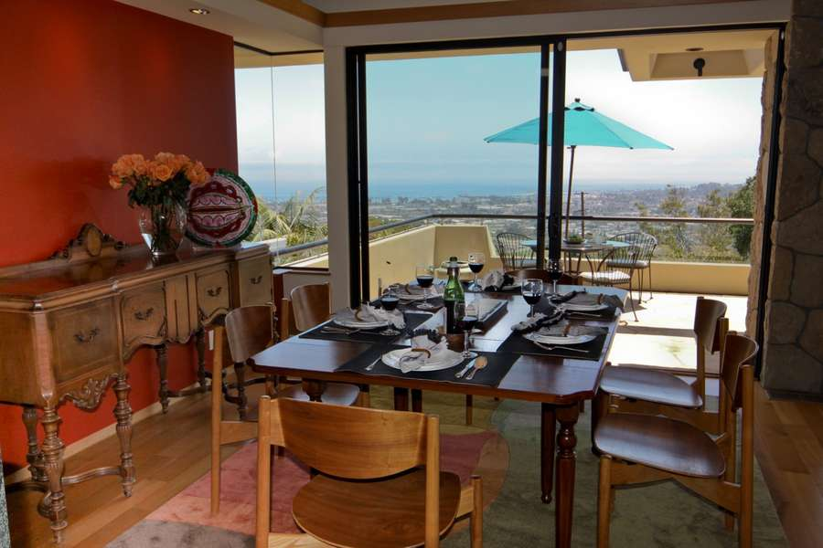 Dining Room with expansive ocean views