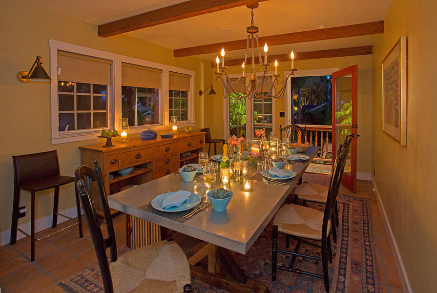 Evening glow in the Dining Room