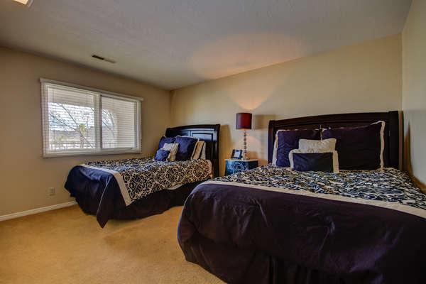 Guest Bedroom 1.  2 Queen Beds.