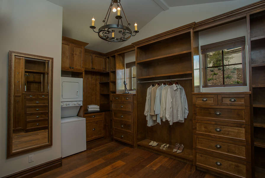 Convenient laundry area in Master Bedroom #1 closet