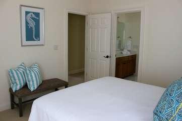 It adjoins a Jack n Jill bathroom between bedroom 3 and 4.