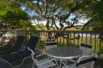 Bring your lunch and dine under the shade of the trees with great views.