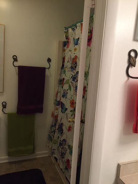 Bathroom second floor - tub with shower and toilet separate from sink