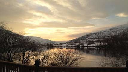 Sunset over the river as taken by one of our guests