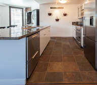 Gourmet Kitchen, Fully Equipped, Granite Counters, Stainless appliances.