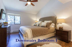 Downstairs Master Bedroom- King Sized Bed - Flat Screen TV