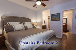 Upstairs Bedroom #2- King Sized Bed - Flat Screen TV