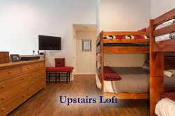 Upstairs Loft- Two Sets of Bunk Beds (Full/Queen on Top & Bottom)