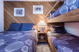 Bedroom #3- Queen Bed and Twin Size Bunk Bed