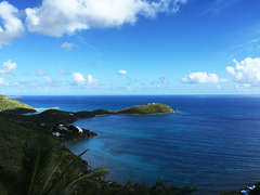 View of Rendezvous Bay and the Caribbean Sea