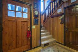 Mud room just inside the front door