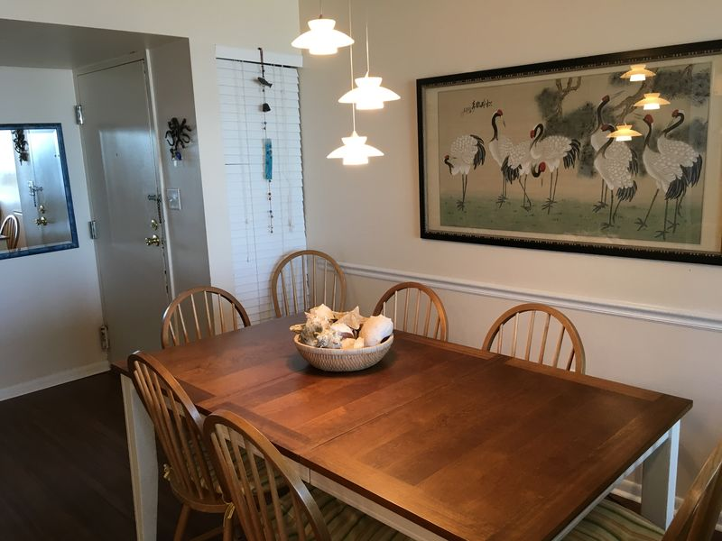 Dining room, seating for six.