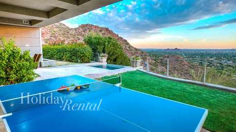 Play ping pong or soak in the hot tub nearby!