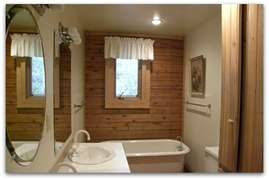Bathroom #1: (Main floor):  tub only-sink-toilet