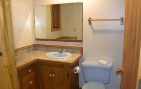 Bathroom #3 (lower level/downstairs):  Shower & tub combo-toilet-sink
