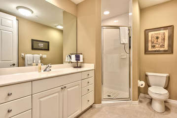 2nd Bathroom with Walk in Shower and Double Vanity!
