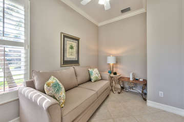 Private Den with Pullout Couch and Desk Area!