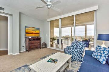 Living Room Area; Flat Screen TV;