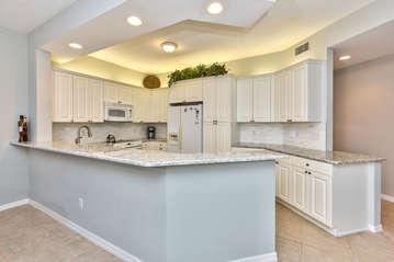 Fully Stocked Kitchen;