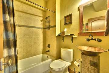 Full Bath, with Authentic Copper Mining Pan sink basins