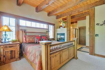 Master Suite with Sleep Number King size bed, Full Bath and heated flooring