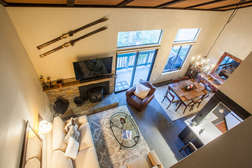 Aerial View of living room from loft