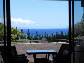 Enjoy this view and Relax on the spacious lanai with comfy outdoor furnishings!