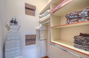 Walk in closet with ample storage space