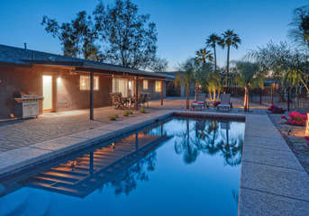 Luxurious home with private pool and other resort amenities has brilliant sunsets to culminate each exciting day!