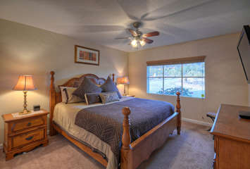 North master mountain view suite is yet another attractive master suite with a king bed, television and private bath