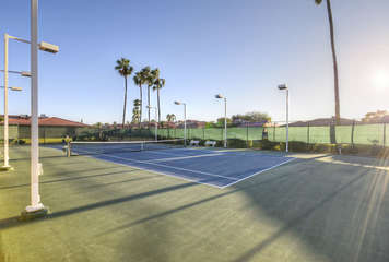 Walk to heated pool, spa and tennis courts in prestigious and safe senior community