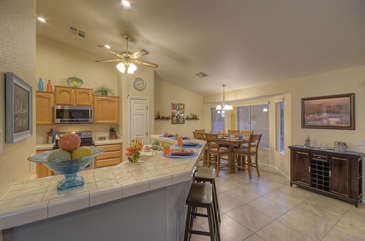 Floorplan is open and bright with charming living spaces