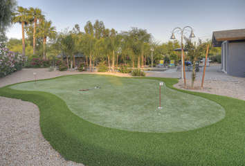 Practice your best shot on your own putting green