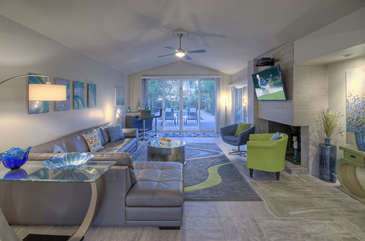 Open floor plan with luxurious furnishings will wow you!