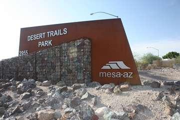 Miles of biking trails in North East Mesa
