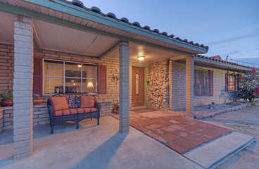 Sprawling, retro style ranch home in charming southwest setting has had major make-over and is like a brand new home