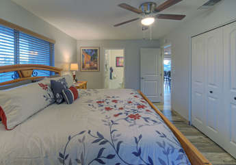 All bedrooms have Smart TVs and ceiling fans as shown in south master mountain view suite