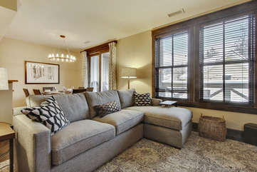 Luxury Couch, great place to unwind after skiing or biking