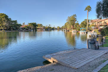 Just a short walk past 3 homes to dock and larger part of Tempe Lake